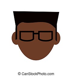 faceless man with glasses icon
