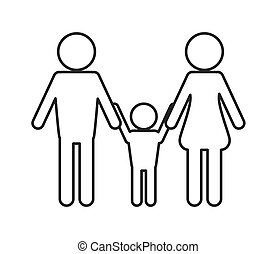 family pictogram icon