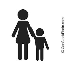 family pictogram icon