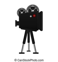 film projector illustration