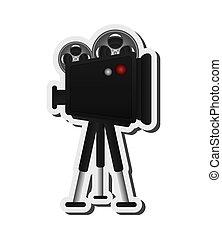 film projector illustration