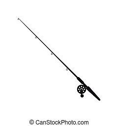 fishing rod icon - flat design fishing rod icon vector...