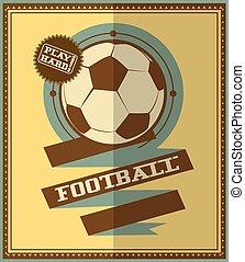 Flat design. Football retro poster.