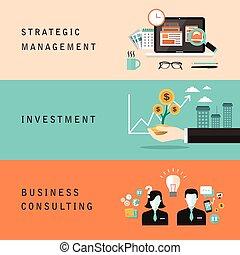 flat design for business concept - flat design for strategic...