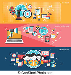 flat design for business marketing concepts