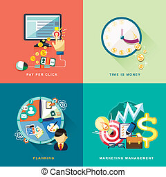 flat design for web and mobile services and apps - flat ...