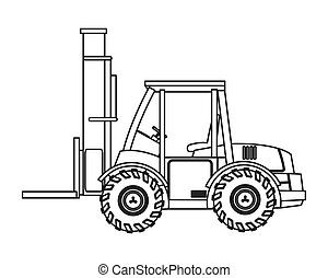 forklift truck icon - flat design forklift truck icon vector...