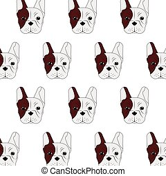 french bulldog pattern icon