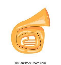 french horn cartoon icon