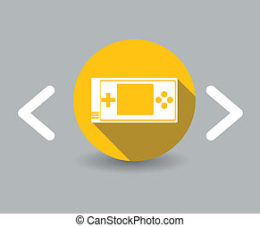 flat design game icon