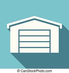 Flat design garage vector icon
