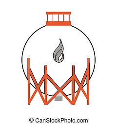 gas or oil refinery icon
