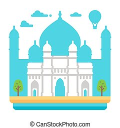Flat design Gateway of India