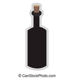 glass bottle with cork icon