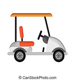 Golf car icon