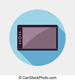Flat design graphic tablet icon
