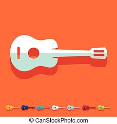 Flat design: guitar