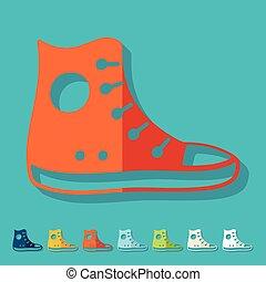 Flat design: gumshoes