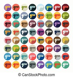 Flat design: gun game