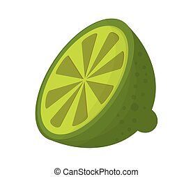 half lime icon