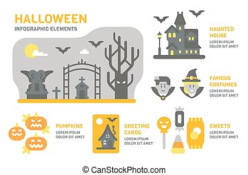 Flat design Halloween infographic