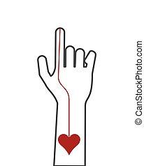 hand index finger icon - flat design hand index finger icon...