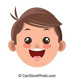 happy boy cartoon icon