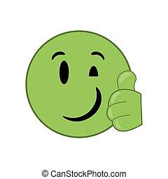 happy wink emoticon icon