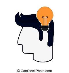 head with lightbulb icon