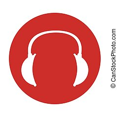 headphone sign icon
