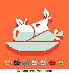 Flat design: healthy food