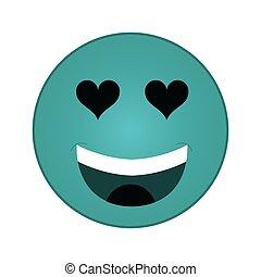 heart eyes emoticon icon