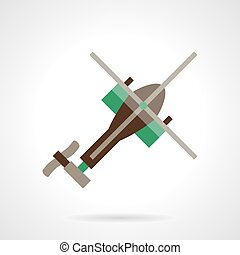 Flat design helicopter vector icon
