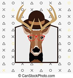 hipster style deer image