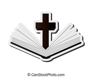 holy bible icon - flat design holy bible icon vector ...
