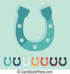 Flat design: horseshoe