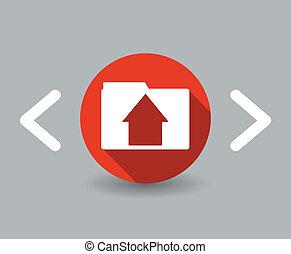 flat design house icon