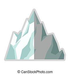 ice mountain icon