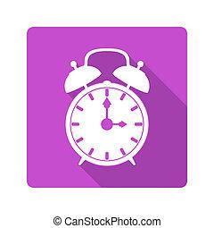 Flat design icon. alarm clock