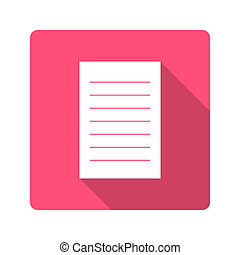 Flat design icon. notebook