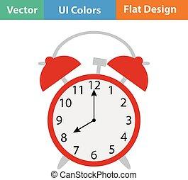 Flat design icon of Alarm clock