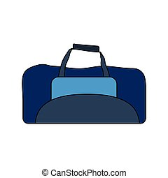 Flat design icon of Fitness bag