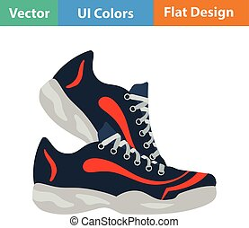 Flat design icon of Fitness sneakers