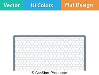 Flat design icon of football gate