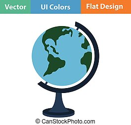 Flat design icon of Globe