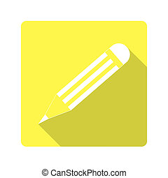 Flat design. icon pencil