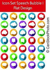 Flat Design Icon Set Speech Bubble