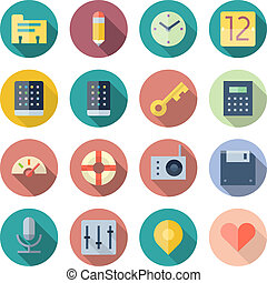 Flat Design Icons For User Interface. Vector illustration...