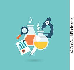 Flat design illustration concept for chemistry
