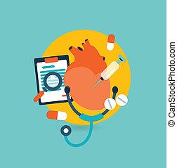 Flat design illustration concept for medicine